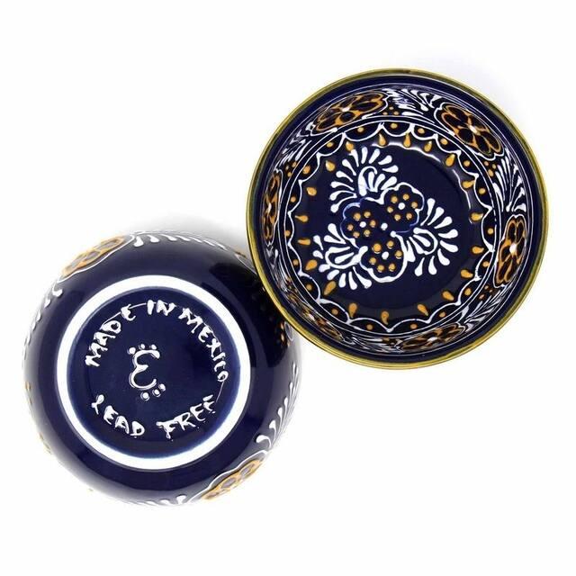"Pottery 5.5"" Set of 2 Bowls, Blue"