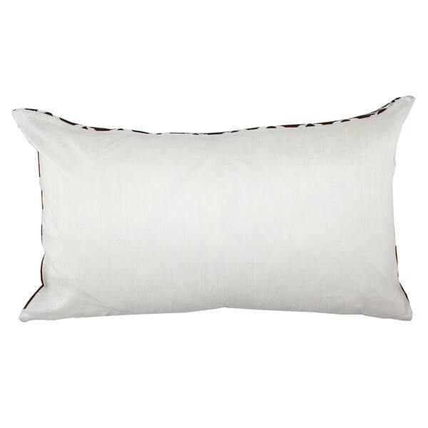 Divine Home Brown Embroidered Vail Trellis Lumbar Throw Pillow Overstock 28010715