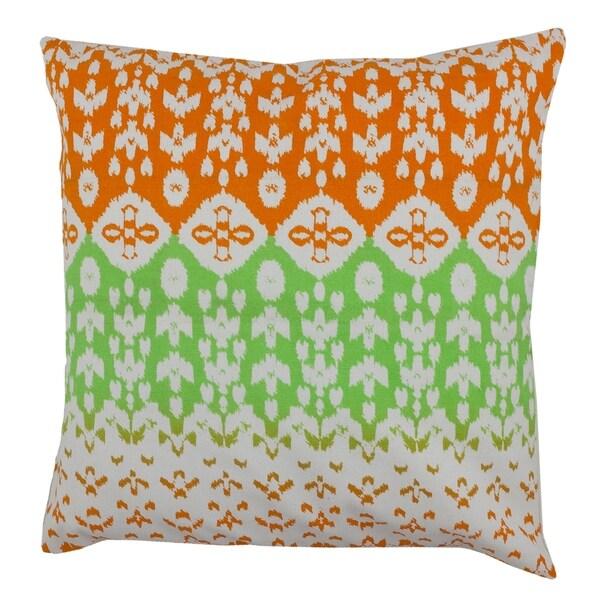 Divine Home Ikat Geometric Throw Pillow