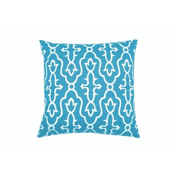 Divine Home Aqua Maira Throw Pillow