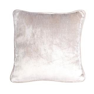 Divine Home Luxe Latte Velvet Throw Pillow