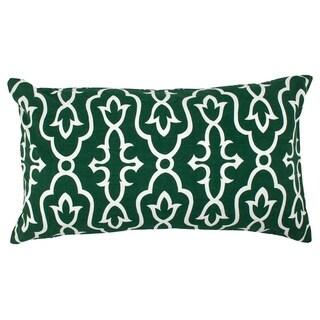 Divine Home Green Maira Lumbar Throw Pillow