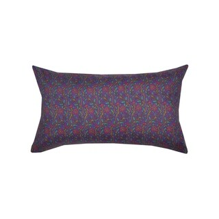 Divine Home Purple Floral Lumbar Throw Pillow