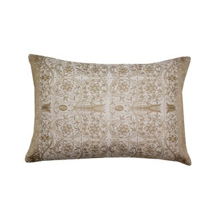 Divine Home Embroidered Lumbar Throw Pillow