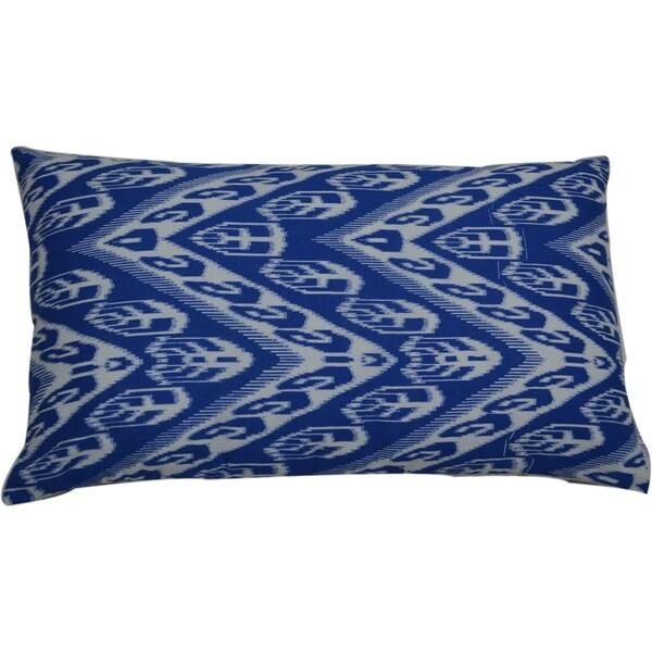 Divine Home Indigo Chevron Lumbar Throw Pillow