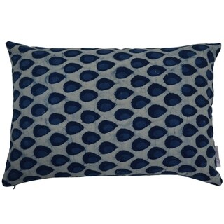 Divine Home Blue Drops Lumbar Throw Pillow