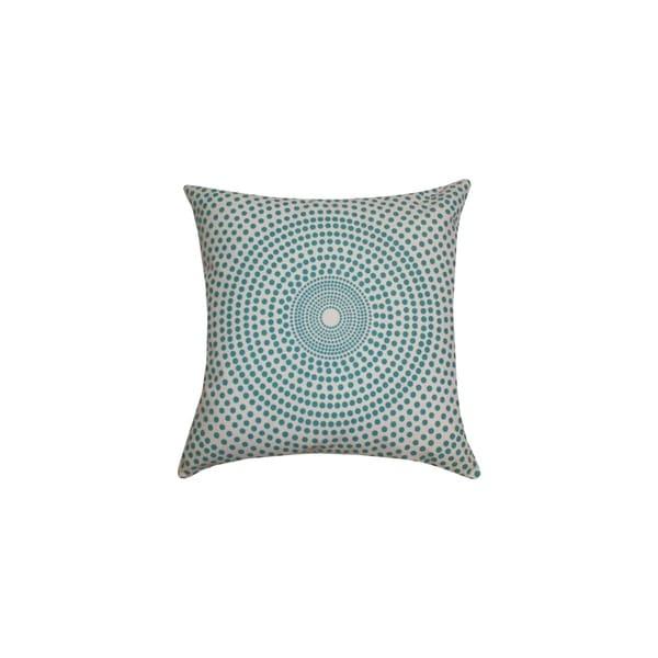 Divine Home Blue Concentric Circles Throw Pillow