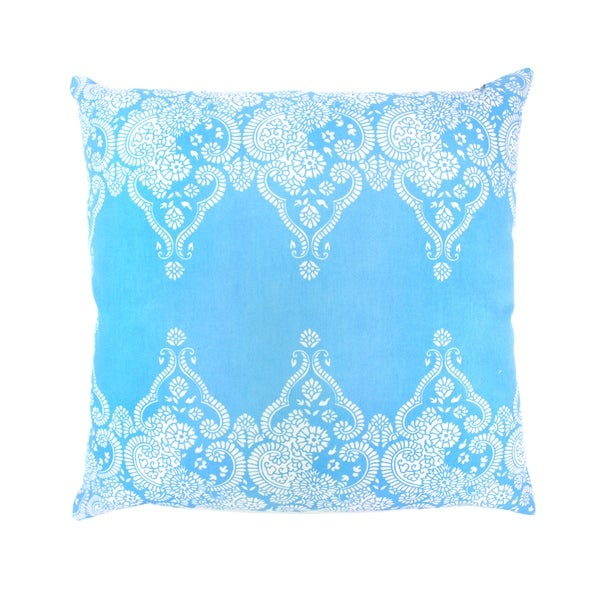 Divine Home Light Blue Monterey Throw Pillow