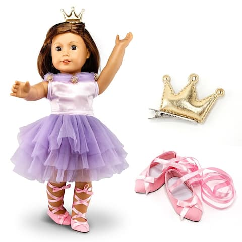 """Fits American Girl 18""""Dress Doll Clothes Costume Outfit Set with Shoes"""