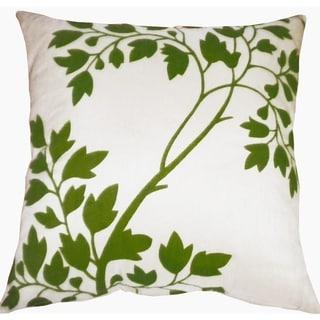 Divine Home Green Branch Throw Pillow