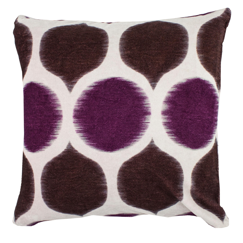 Shop Black Friday Deals On Divine Home Velvet Ikat Circles Throw Pillow Overstock 28010871