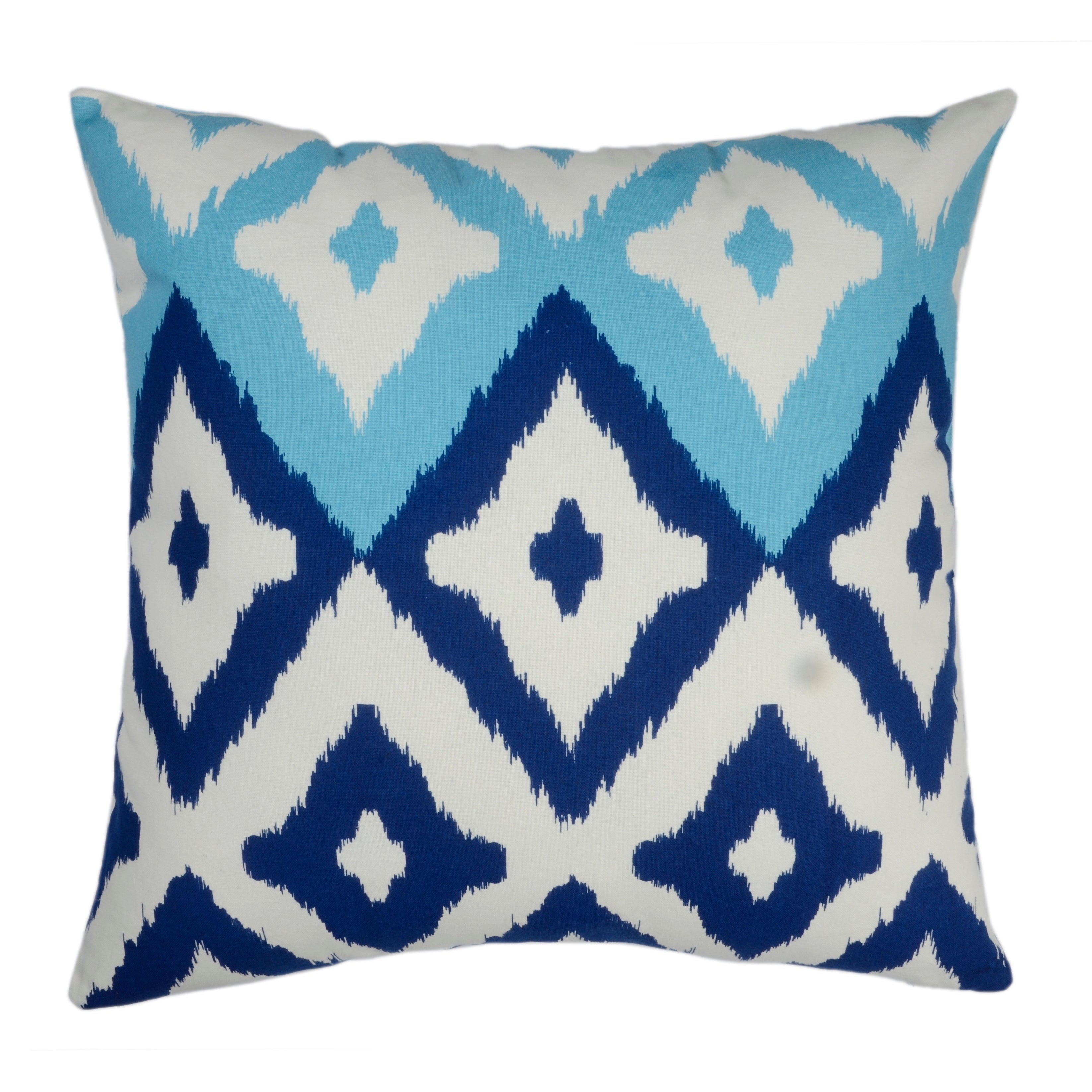 Divine Home Blue And Aqua Del Mar Ikat Throw Pillow Overstock 28010878