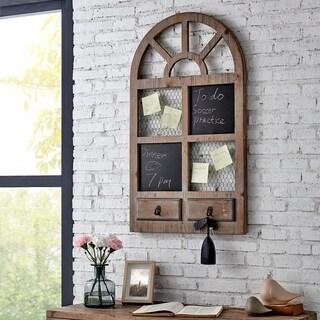 "FirsTime & Co.® Cottage Archway Chalkboard Hook Rack - 33.5""H x 20""W"