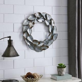 FirsTime & Co.® Laurel Leaves Metal Wreath