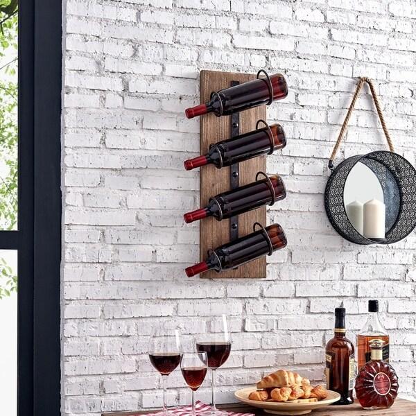 "FirsTime & Co.® Cooper Rustic Wine Rack - 24"" x 8"" x 5"""