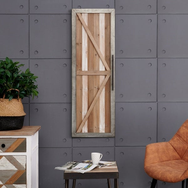 """FirsTime & Co.® Granary Barn Door Wall Plaque - 46""""H x 16""""W"""
