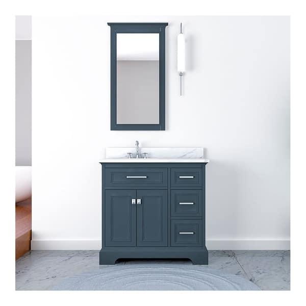 Furnishmore Pittsburgh Bathroom Vanity On Sale Overstock 28010979 Grey
