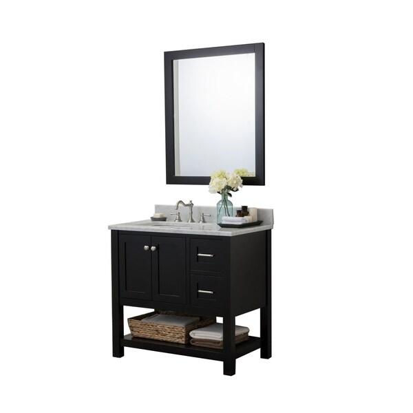 Woodville 36 in. Bathroom Vanity with Mirror