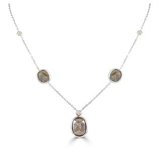 Sabrina 14K Gold Fancy Color Diamond Rough Diamond Station Necklace On A 18 Chain