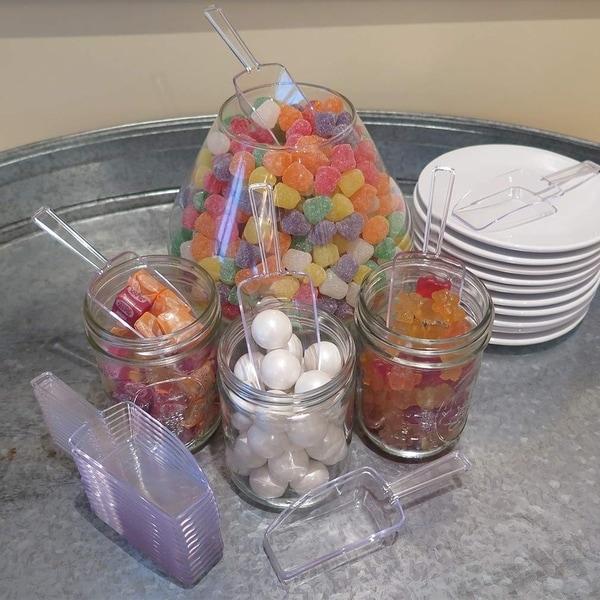 Evelots Mini Plastic Clear-Multi-Purpose-Ice-Candy Kitchen-Serve Scoops-Set//12