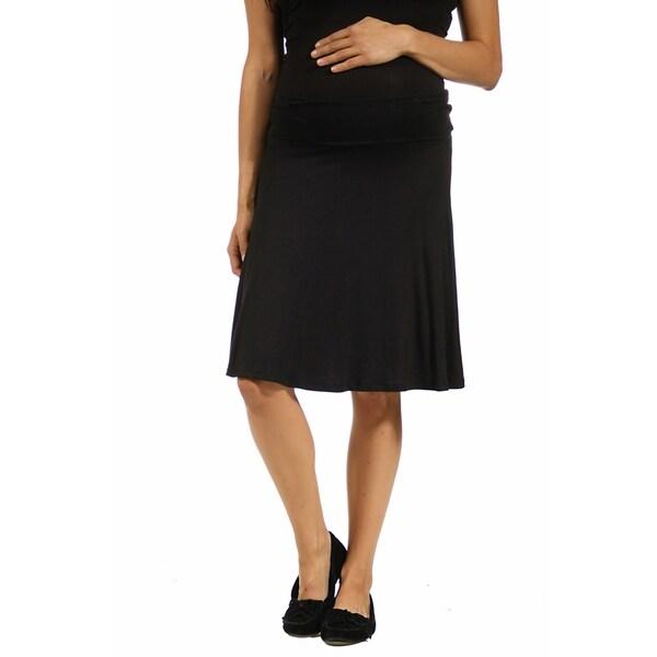 0c9a66b34 Shop 24seven Comfort Apparel Womens Foldover Knee Length Maternity ...