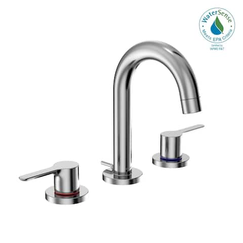 TOTO® LB Two Handle Widespread 1.2 GPM Bathroom Sink Faucet, Polished Chrome (TLS01201U#CP)