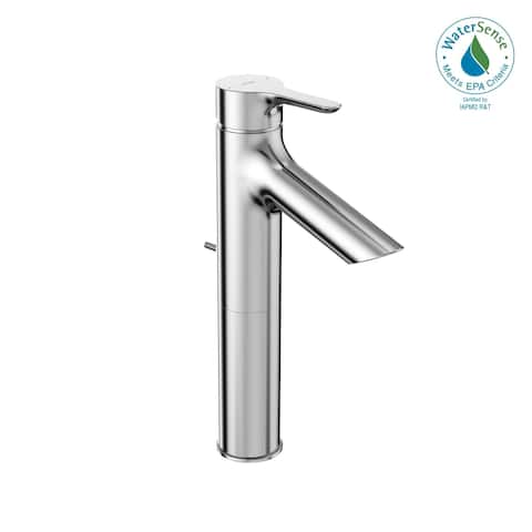 TOTO® LB 1.2 GPM Single Handle Semi-Vessel Bathroom Sink Faucet with COMFORT GLIDE Technology, Polished Chrome (TLS01304U#CP)