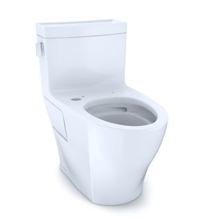 TOTO Legato 1-Piece Elongated 1.28 GPF WASHLET+ & Auto Flush Ready Toilet w/ CEFIONTECT, Cotton White (CST624CEFGAT40#01)