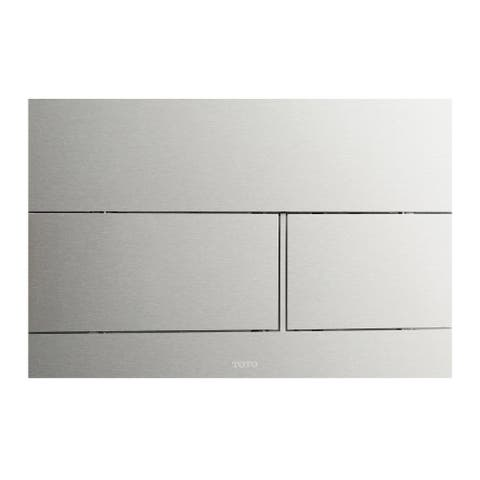 TOTO® Dual Flush Push Button Plate for Select DuoFit In-Wall Tank Unit, Stainless Steel (YT980#SS)