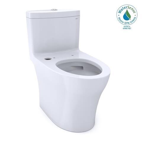 TOTO Aquia IV 1-Piece Elongated 1.0/0.8 GPF WASHLET+ & Auto Flush Ready Toilet w/ CEFIONTECT, Cotton White (CST646CUMFGAT40#01)
