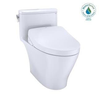 TOTO WASHLET+ Nexus 1-Piece Elongated 1.28 GPF Toilet w/ S550e Bidet Seat, Cotton White (MW6423056CEFG#01)