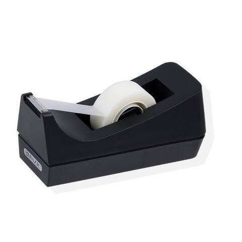 Professional Desktop Tape Dispenser - Rubber Base for One-Hand Dispensing