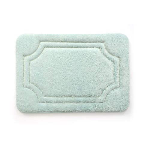 Porch & Den Dereck Misty Blue Water Shielded Memory Foam Bath Rug
