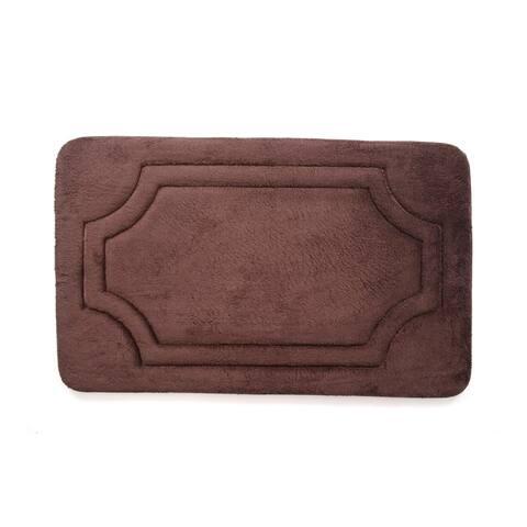 Porch & Den Dereck French Roast Water Shielded Memory Foam Bath Rug - 1'9' x 2'10'