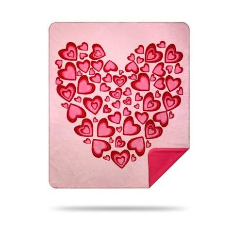 Denali Valentines Heart/Pink Microplush Blanket