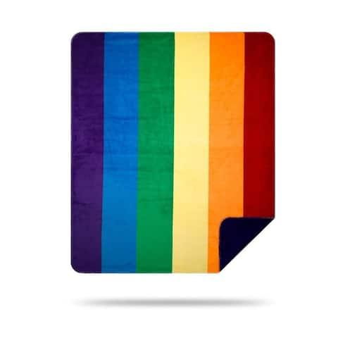 Denali Pride/Purple Microplush Blanket
