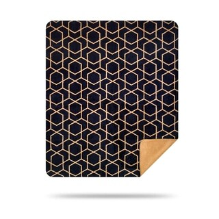 Denali Hexacubes/Wheat Microplush Blanket