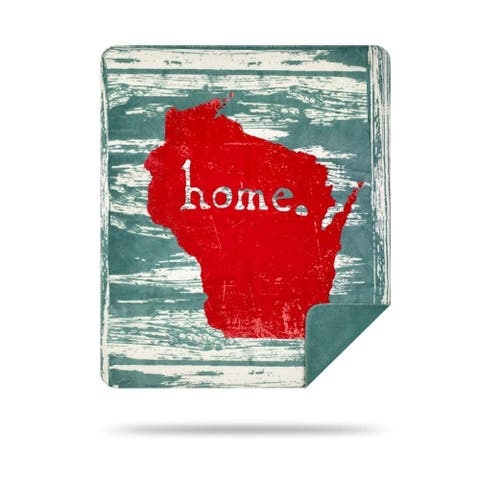 Denali Wisconsin Home/Light Marine Microplush Blanket