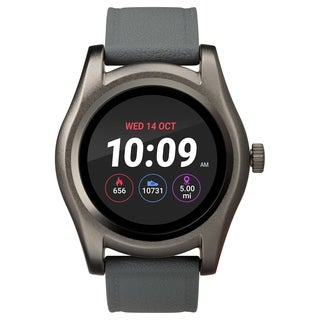 iConnect by Timex TW5M31600 Gray/Gunmetal Round Touchscreen Watch