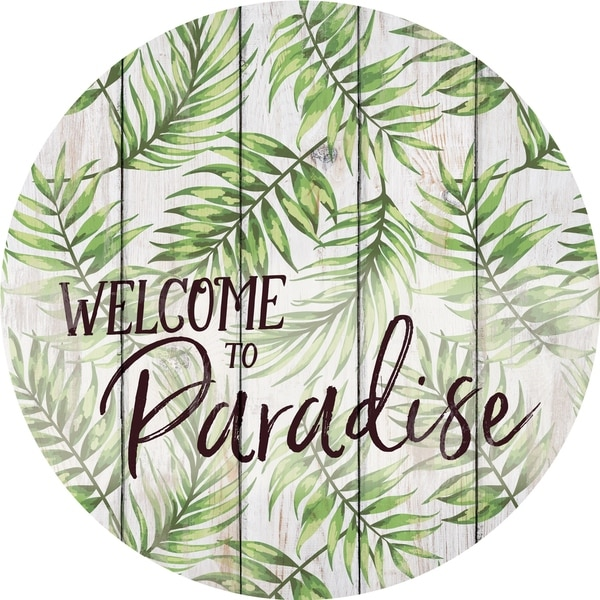 Welcome To Paradise Oversized Décor