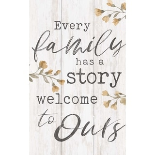 Every Family Has A Story Welcome To Ours Pallet Décor