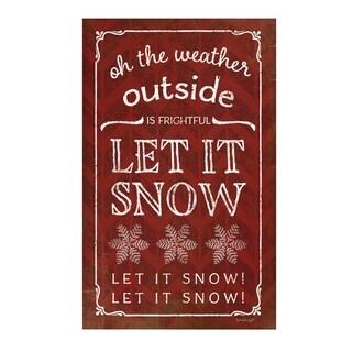 Let It Snow Pallet Décor