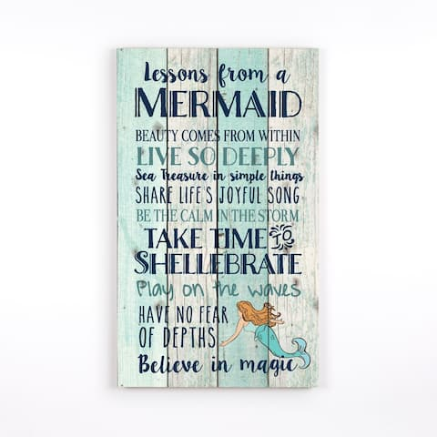Lessons From A Mermaid Pallet Decor
