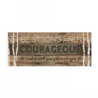 Be Strong And Courageous Pallet Decor