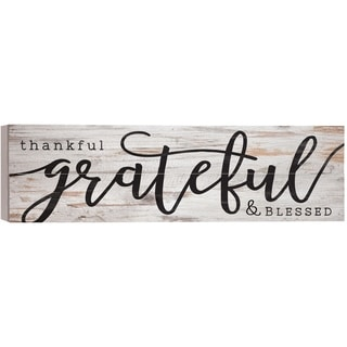 Thankful, Grateful, Blessed Pallet Décor