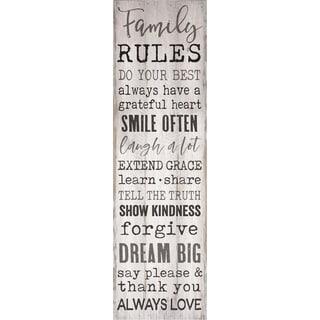 Family Rules Pallet Décor