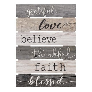 Grateful, Love, Believe, Thankful, Faith, Blessed Pallet Décor