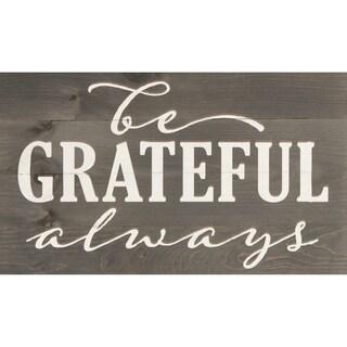 Be Grateful Always Pallet Décor