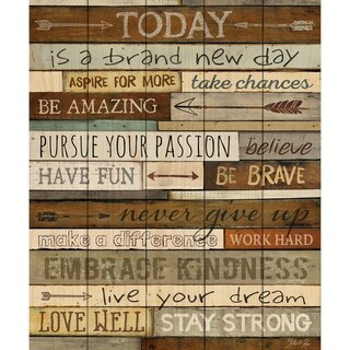 Today Is A Brand New Day Pallet Décor