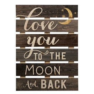 Love You To The Moon & Back Pallet Décor